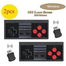 2x Wireless NES GamePad Controller for Nintendo NES Mini Classic Edition Console