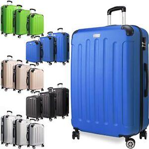KESSER® 3tlg Reisekoffer Set Trolley Hartschale Hartschalenkoffer Koffer M-L-XL