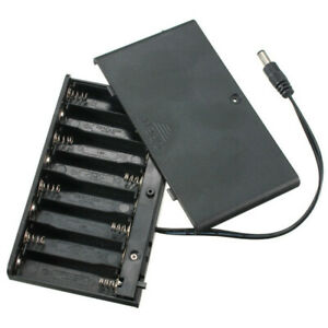 8-AA-Cells-Battery-12-V-Clip-Holder-Enclosed-Box-Case-With-On-Off-Swit-BNW