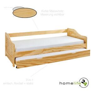 massivholzbett 90x200 cm kinderbett bett funktionsbett kojenbett ausziehbett ebay. Black Bedroom Furniture Sets. Home Design Ideas