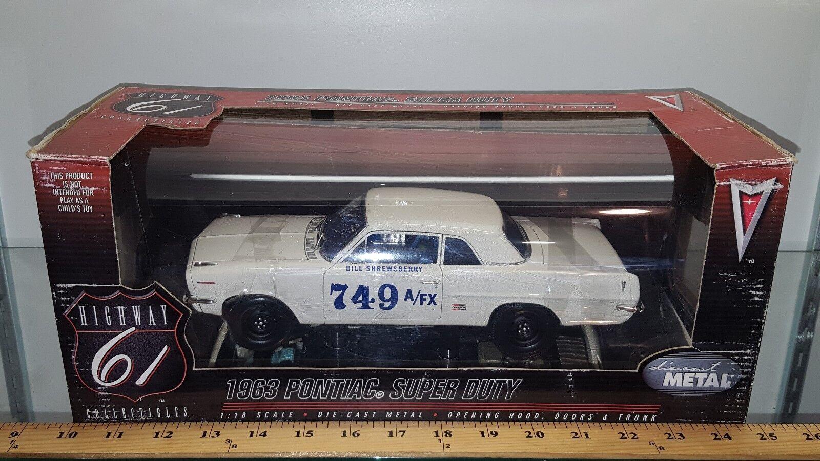 1/18 Highway 61 Coleccionables Bill shrewsberry 2018 Pontiac Super Duty Blanco BD