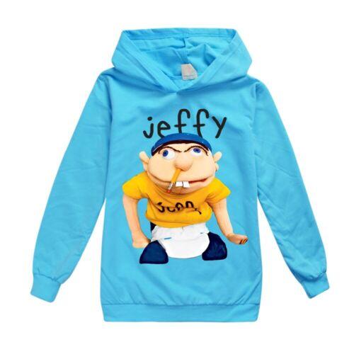 Jeffy Puppet Spring Autumn Kids Hoodie Boys/' Long Sleeve T-shirt Sports Shirt