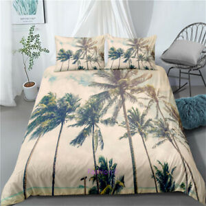 Doona-Duvet-Quilt-Cover-Set-Single-Double-Queen-King-Bed-Coconut-Palm-Beige