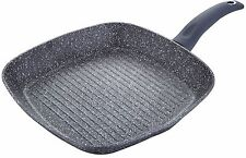 Bergner Orion 28cm Square Frying Grill Pan Non Stick, Marble Coating, Induction,