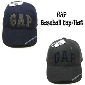 GAP-NEW-MENS-BASEBALL-CAP-NWT-HAT-NAVY-BLUE-CHARCOAL-GRAY-NICE-CAP-SIZE-M-L-NICE