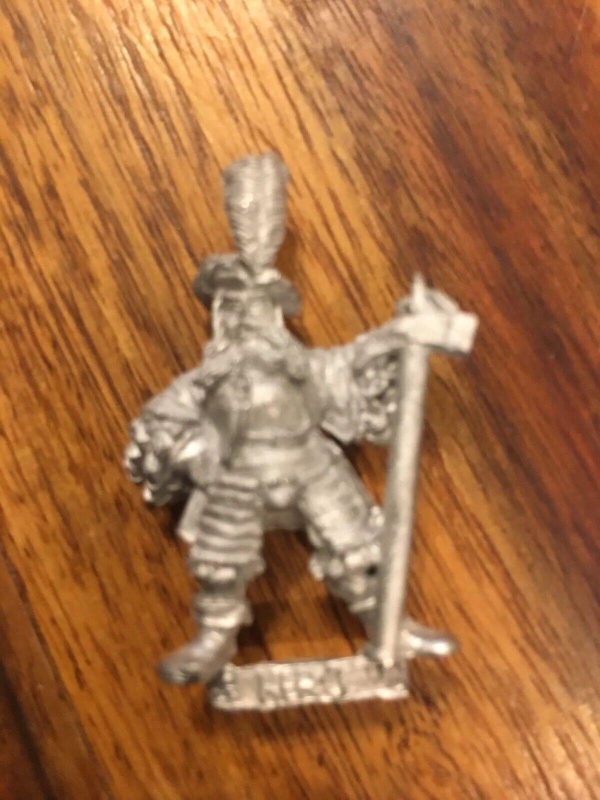 Empire fighter Reiksguard Hero  Champion Metal Games Workshop OOP