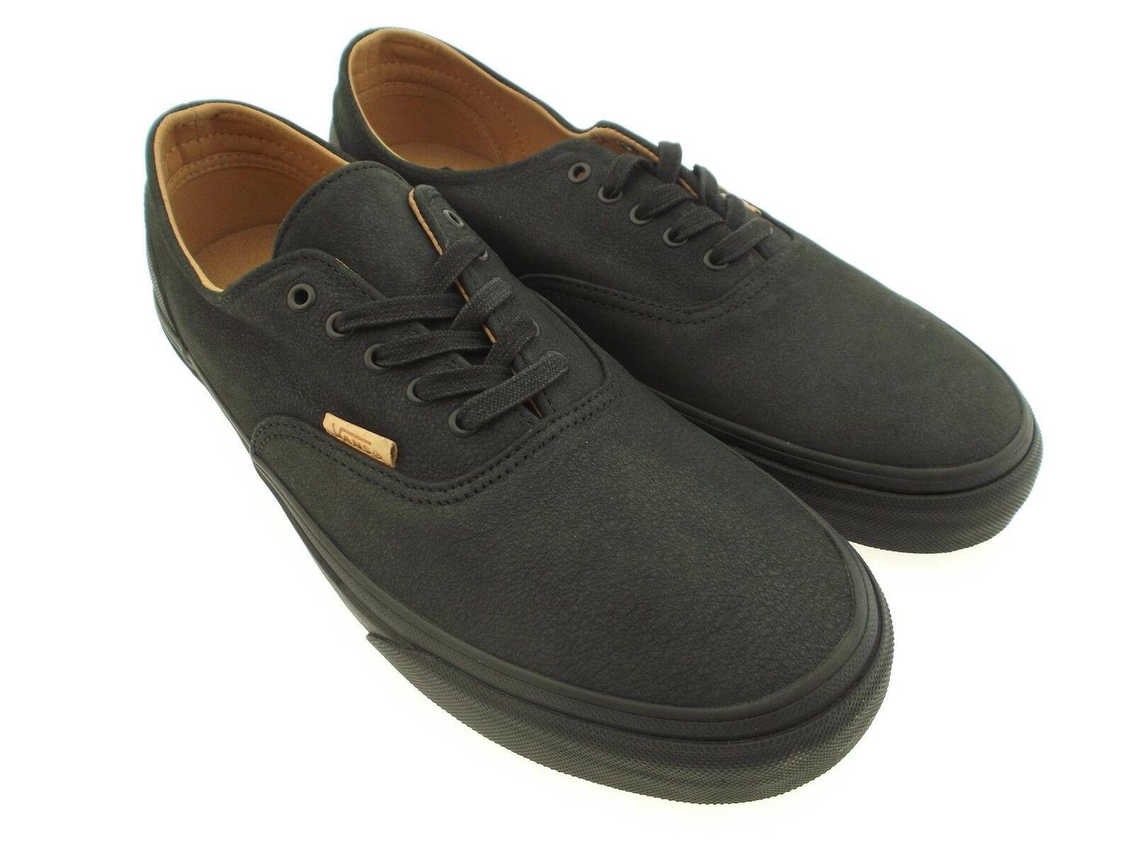 Vans Men Era Leder Decon CA - Mono Leder Era schwarz rubber VN0OX1GJP 3bc7ec