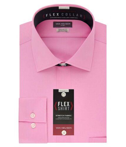 Van Heusen Mens Stretch Flex Button Up Dress Shirt