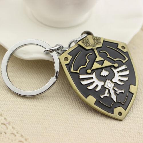 The Legend of Zelda Logo Link Shield Alloy Key Chains Keychain Keyfob Keyring