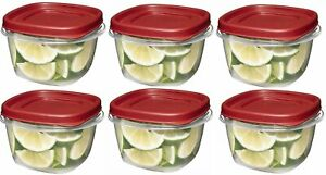 Rubbermaid-Easy-Find-Lid-Square-2-Cup-Food-Storage-Pack-of-6-Containers-Red
