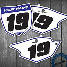 Yamaha YZ YZF 85 125 250 450 250F 450F Custom Number Plates Backgrounds Yamaha