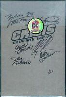 Crisis On Infinite Earths Hard Cover 2/2,500 - Autographed By All Six W/poster
