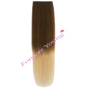 clip in dip dye ombre remy human hair extensions light