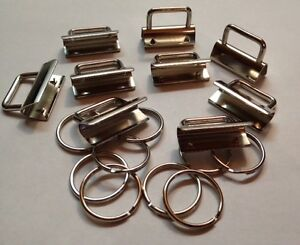 10-X-Clamp-Clasp-KEY-RING-for-Keychain-Clip