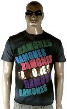 AMPLIFIED RAMONES Rock Star ViP Strass Vintage Schwarz Bleached T-SHIRT L Selten