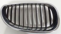 BMW 5 SERIES E60 E61 03-10 FRONT RIGHT GRILLE KIDNEY BLACK CHROME 51137027062