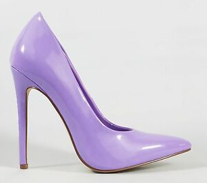 Alba Lilac Purple Patent Pointy Toe Pump Shoe 4.5