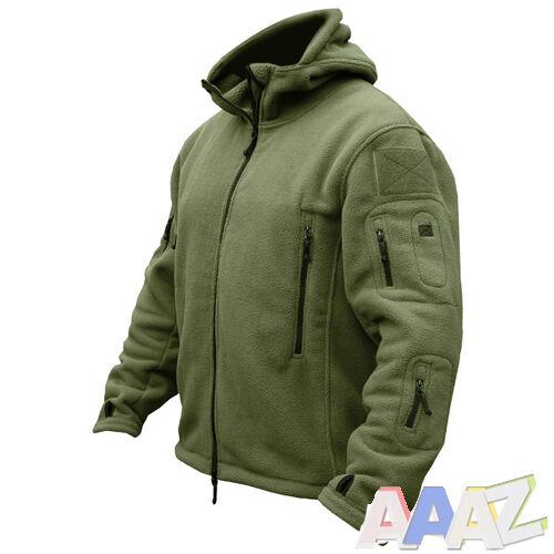 Tactical Recon Zip Up Fleece Jacket Army Hoodie Security Police Hoody Combat