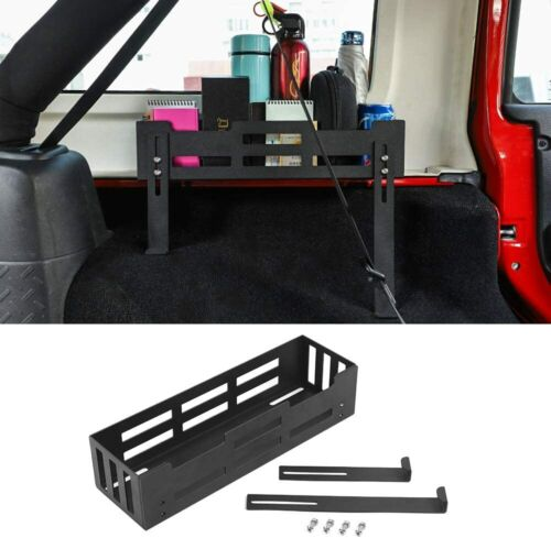 Rear Cargo Side Basket Rack Solid Metal Luggage Storage for Wrangler 2010-2018JK