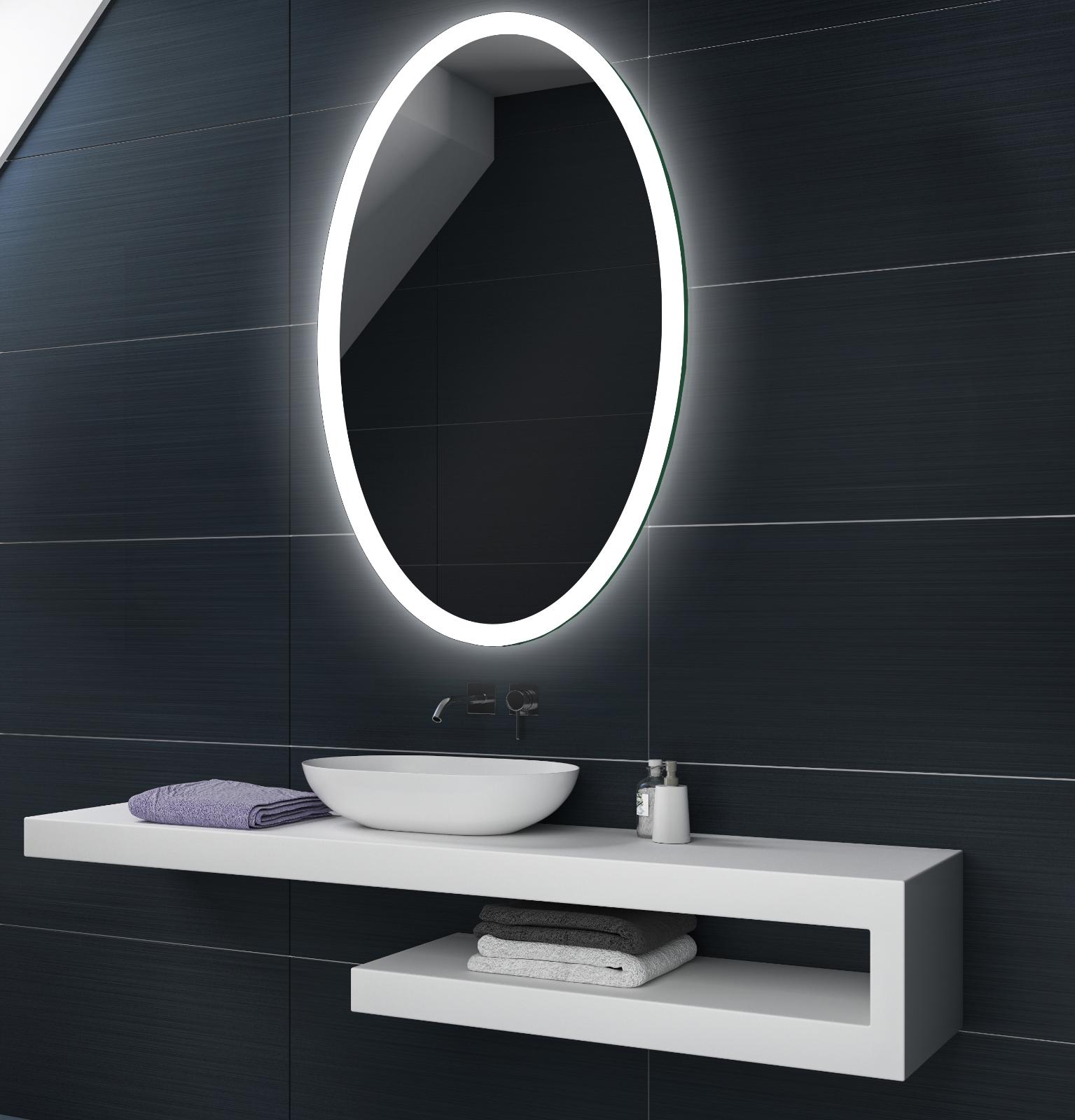 Illumination LED miroir sur mesure eclairage salle de bain L74