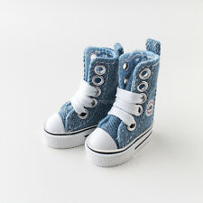 Neo Blythe Pullip Azone Doll Canvas Sneakers Micro Shoes - Blue Jeans