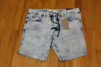 Look Slim Sport Bleach Jean Shorts Size 34/32 Uk With Tags