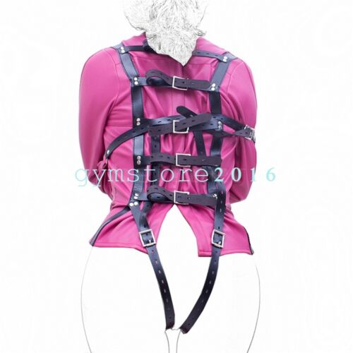 Rosy Body Harness Straight Jacket Halloween Costume Unisex S//M L//XL Armbinder