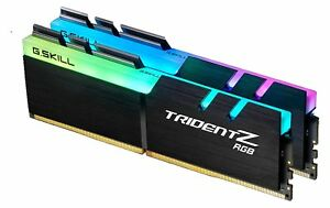G.Skill Trident Z RGB 16GB 2X8GB DDR4 3200MHz CL16 Gaming Desktop Memory RAM Kit 4719692015198