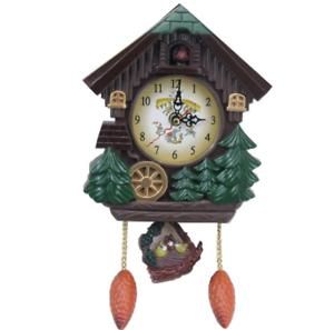 Cuckoo Bird Clock House Wall Hanging Clock Art Home Decor Swing Wall Alarm