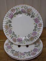 3 Paragon Chrysanthemum Bread Plate Z1152 Majesty Queen Mums Flower Floral