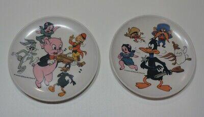 Vintage Plastic Looney Tunes Button Porky Pig