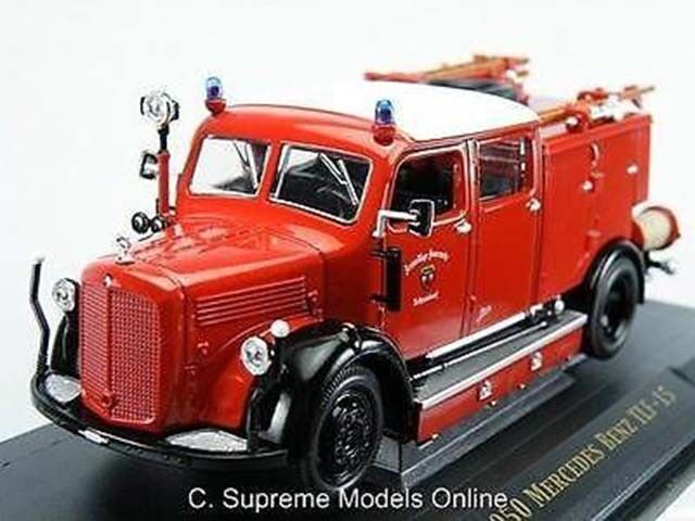MERCEDES BENZ FIRE APPLIANCE 1 43RD SIZE RED FEUERWEHR GERMAN EXAMPLE T3412Z(=)