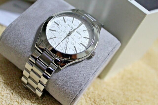 6c23f4fd210c Michael Kors MK3371 Women s Slim Runway Silver Tone Stainless Steel Watch  NEW