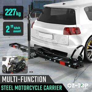 Motorcycle-Motorbike-Carrier-Rack-Dirt-Bike-Ramp-2-034-Hitch-Towbar-Arm-Rear-Mount