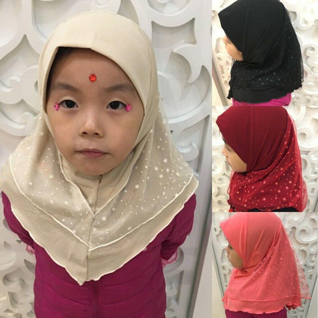 Fashion Children Kids Girls Boys Muslim Islamic Aeab Cap Hat Hijab Turban