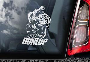 Joey-Dunlop-Coche-Pegatina-Ventana-Motocicleta-Isla-de-Man-Tt-Moto-V2