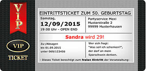 Das Bild Wird Geladen Einladungskarten VIP Ticket Rot Geburtstag  Einladung Party Exklusiv