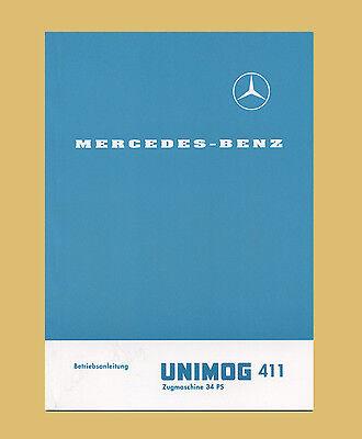 Besorgt Mercedes Benz Unimog 411 Betriebsanleitung