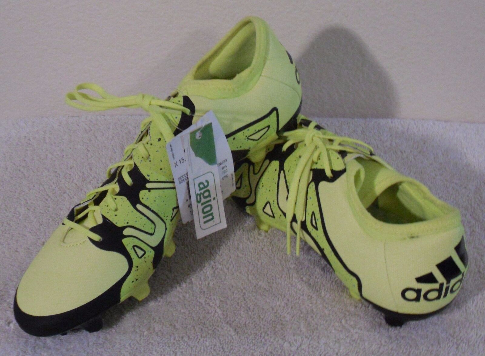 NWT Adidas X 15.2 FG AG Mens Soccer Cleats 12 Solar Yellow MSRP 110