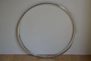 Vintage-1980-039-s-Raleigh-England-Chromed-Steel-Wheel-Rim-36-Holes-700c-622-x-28