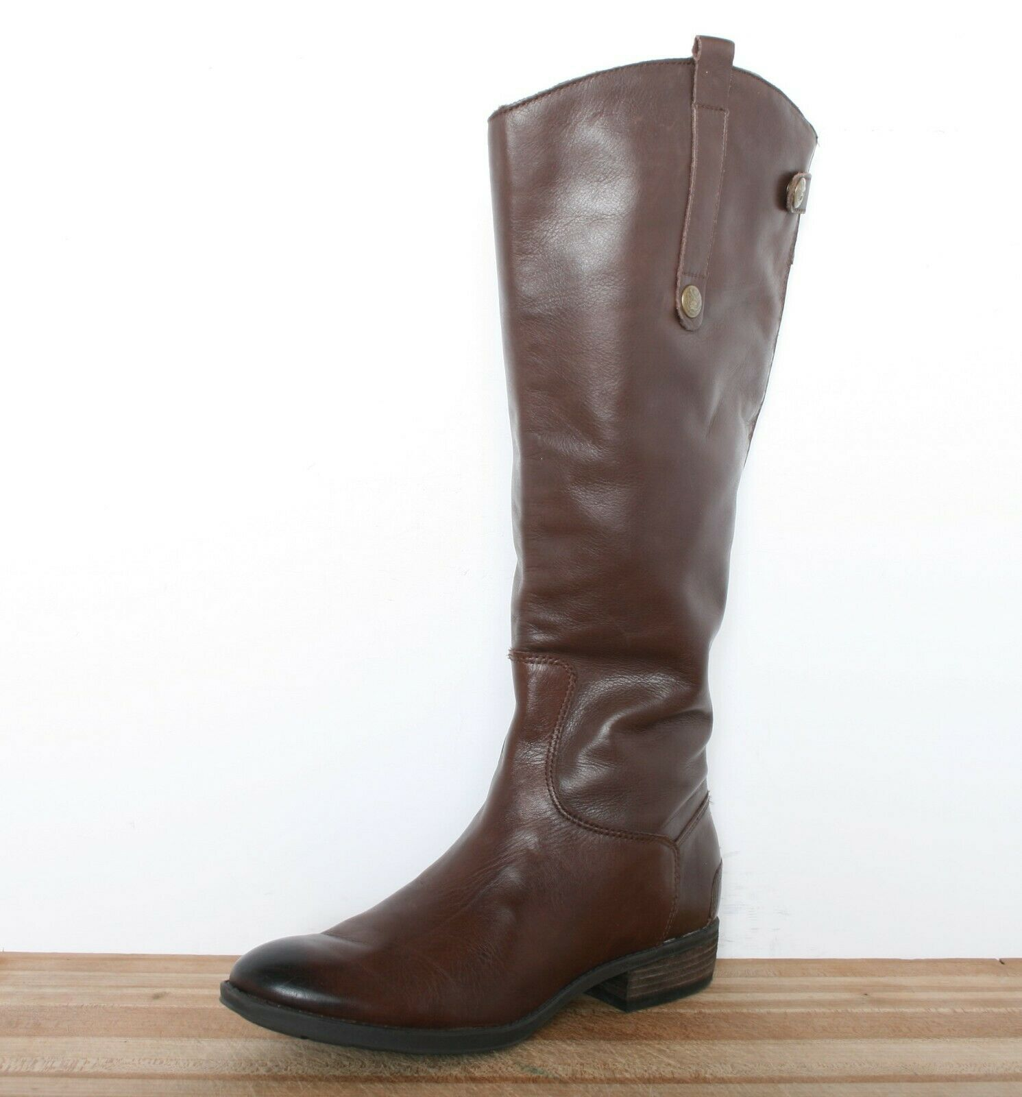 SAM EDELMAN 'Penny' Brown Leather Leather Leather 15  Tall Riding Boots Women's Sz. 8M 51180e