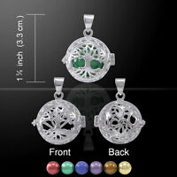 Tree Of Life Bola Ball Harmony Globe .925 Sterling Silver Pendant Peter Stone
