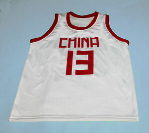 super popular a7129 2674d YAO MING TEAM CHINA JERSEY WHITE NEW SEWN ANY SIZE   eBay