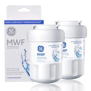 GE MWF Refrigerator Water Filter 2pc SmartWater Filter for Fridge Home Kitchen