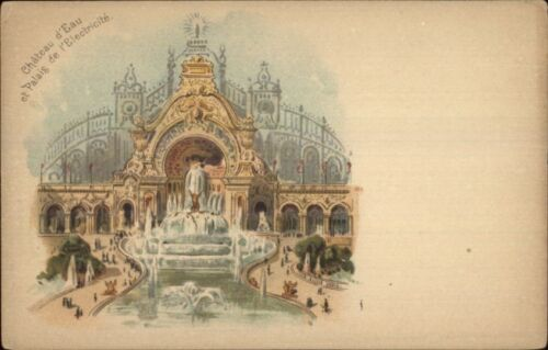 1900 Paris Expo Universelle Chateau D'Eau Early Postcard