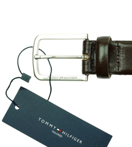 TOMMY HILFIGER Benson Herren Men Gürtel Belt Leder Leather Braun Gr 100,105,110