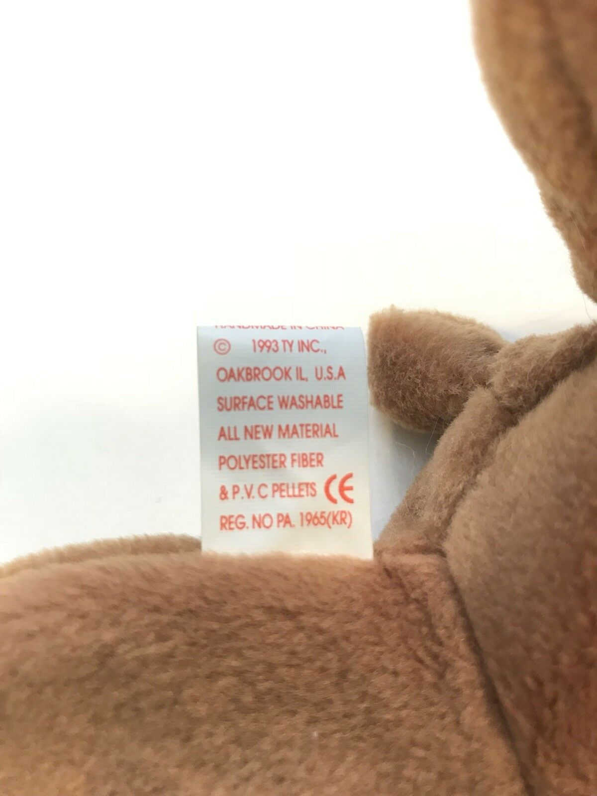 TY Beanie Baby Cubbie The Bear Retired Retired Retired 1993 Deutshland Tag (RARE) 889478