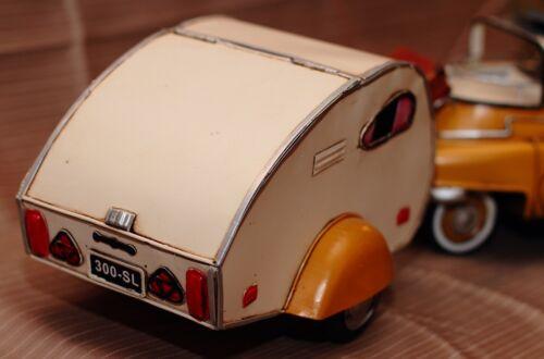 ISETTA TRAILER tin toy tinplate car blechmodell auto voiture tole handmade
