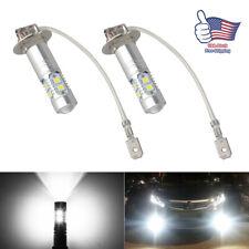 H3 Cree Led Fog Driving Light Bulbs Conversion Kit Super White Canbus 6000k 2pcs