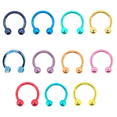 Cbb Ring Colorful Curved Barbell Horseshoe Nose Ring Septum